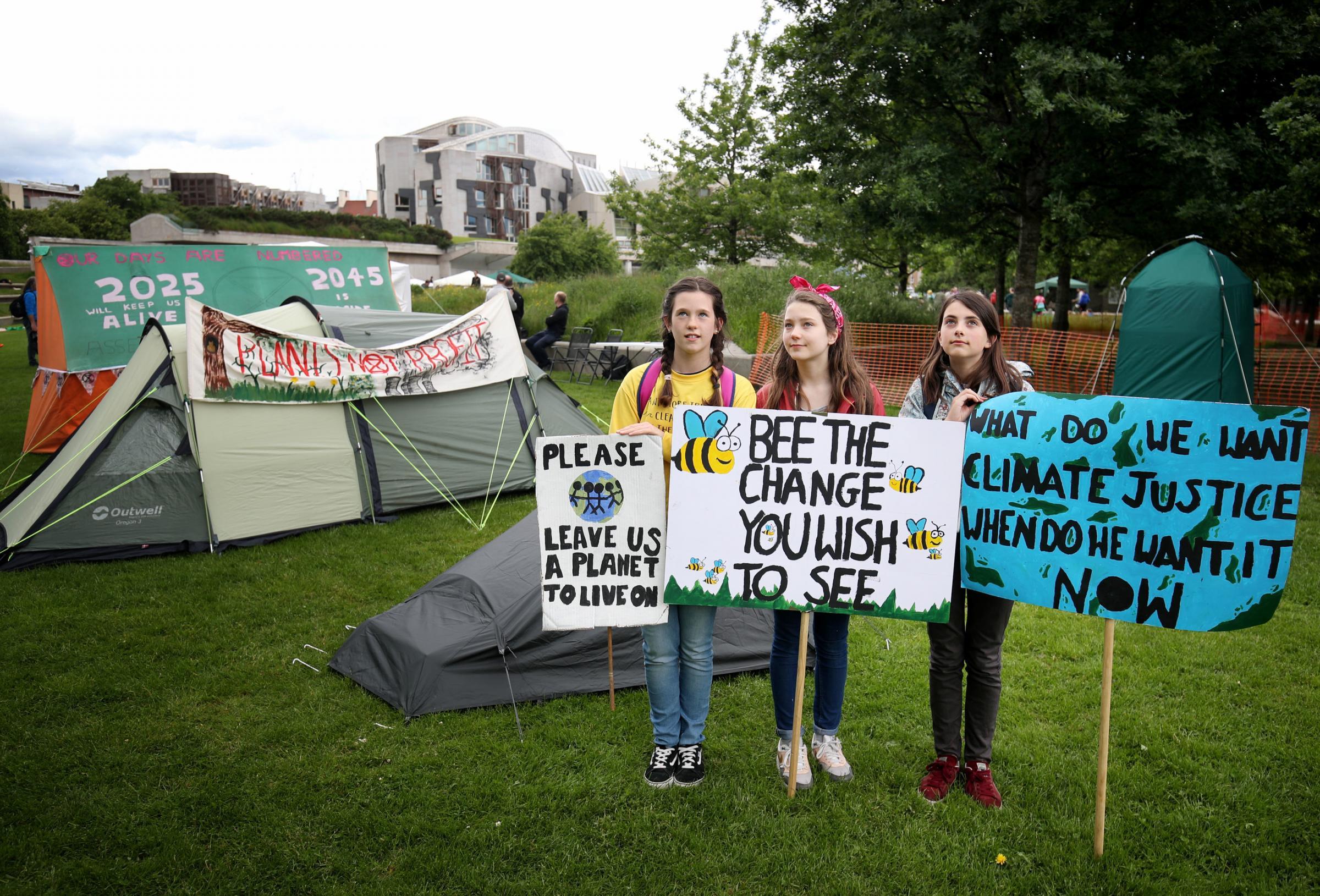 Extinction Rebellion activists at Holyrood camp warn of disruption and arrests