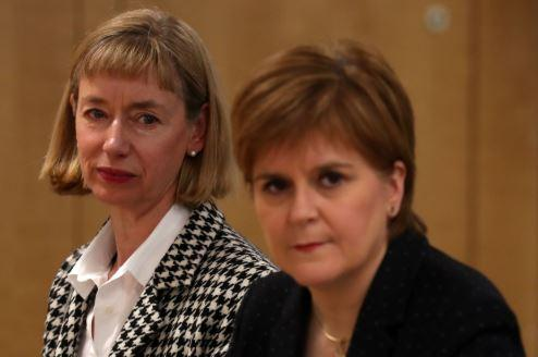 HeraldScotland: Permanent Secretary to the Scottish Government Leslie Evans (left) with Nicola Sturgeon (Andrew Milligan/PA)