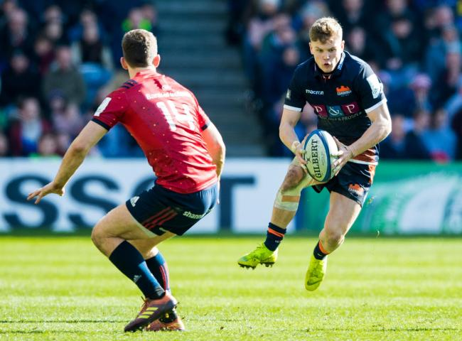 Darcy Graham (right) in action for Edinburgh