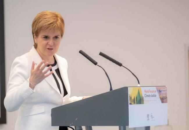 Nicola Sturgeon at the World Forum on Climate Justice. Picture Devlin Photo Ltd