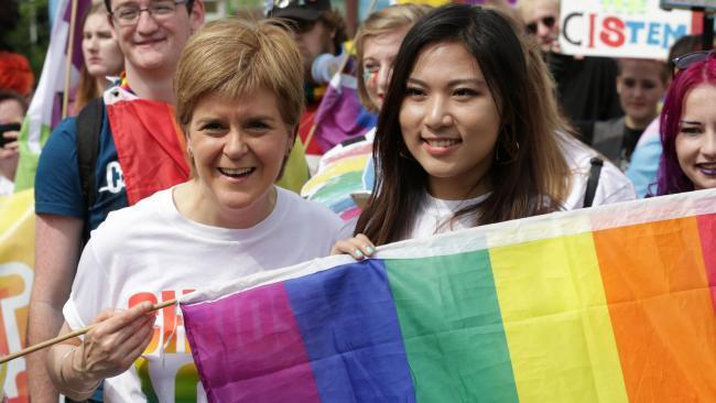 Nicola Sturgeon at Pride in 2018