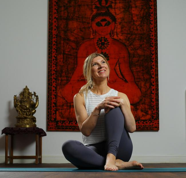 Anthea Simpson, owner of Yoga Healing Glasgow. Picture: Colin Mearns.