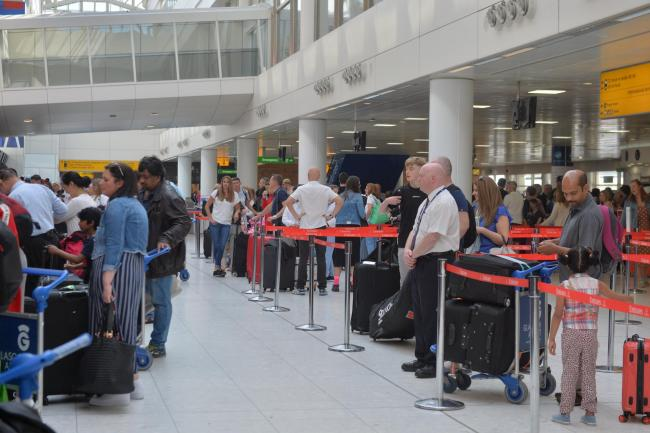Glasgow Airport on the busiest airport day of the year...Kirsty Anderson Newsquest/ Herald and Times.28/06/19...........