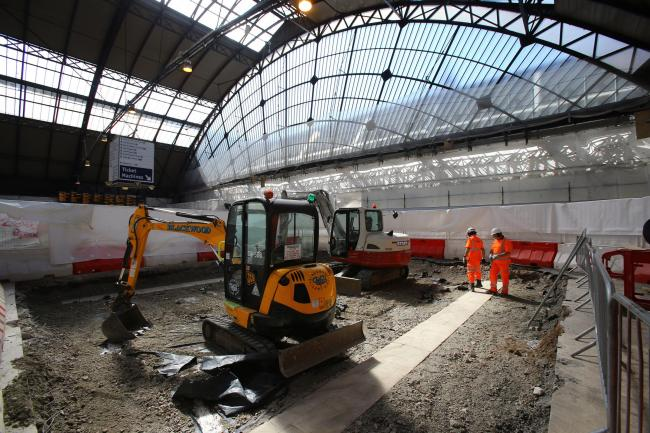 The extension works to platform 2 and 3 are already underway