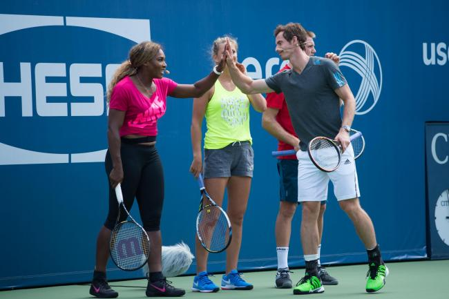 Serena Williams and Andy Murray in 2014