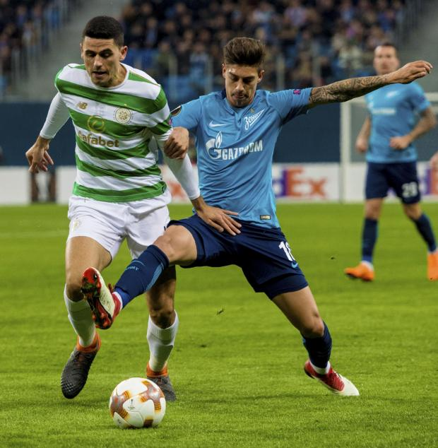 HeraldScotland: Tom Rogic against Zenit in 2018