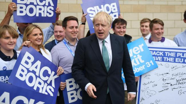 Conservative party leadership contender Boris Johnson arriving at a Tory leadership hustings in York. PRESS ASSOCIATION Photo. Picture date: Thursday July 4, 2019. See PA story POLITICS Tories. Photo credit should read: Joe Giddens/PA Wire.