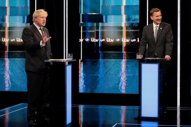 TV clash on Brexit: Hunt accuses Johnson of 'peddling optimism'; Johnson accuses Hunt of 'total defeatism'
