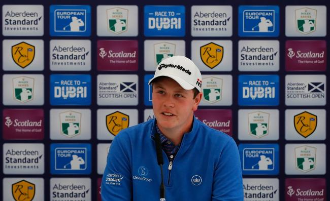 Robert MacIntyre speaks at his Scottish Open press conference