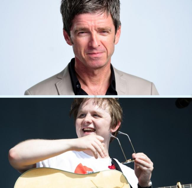 Noel Gallagher (top) and Scots singer Lewis Capaldi