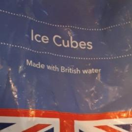 "Says Isobel Frize: ""Just spotted this on a bag of ice (bought at the Co-op on Lewis for the g&ts) and thought, 'Brexit holds no fear for me now!'"""