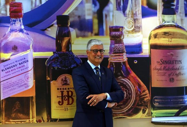 Diageo chief executive Ivan Menezes at the company's Edinburgh offices