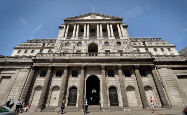 File photo dated 30/07/2014 of a general view of the Bank of England in London, as interest rates are expected to be held at 0.5% this week, as Bank of England policy makers meet for the first time since figures showed the UK had emerged from its worst do