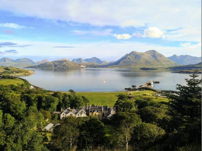The island is a short sail from Skye and offers beautiful scenery
