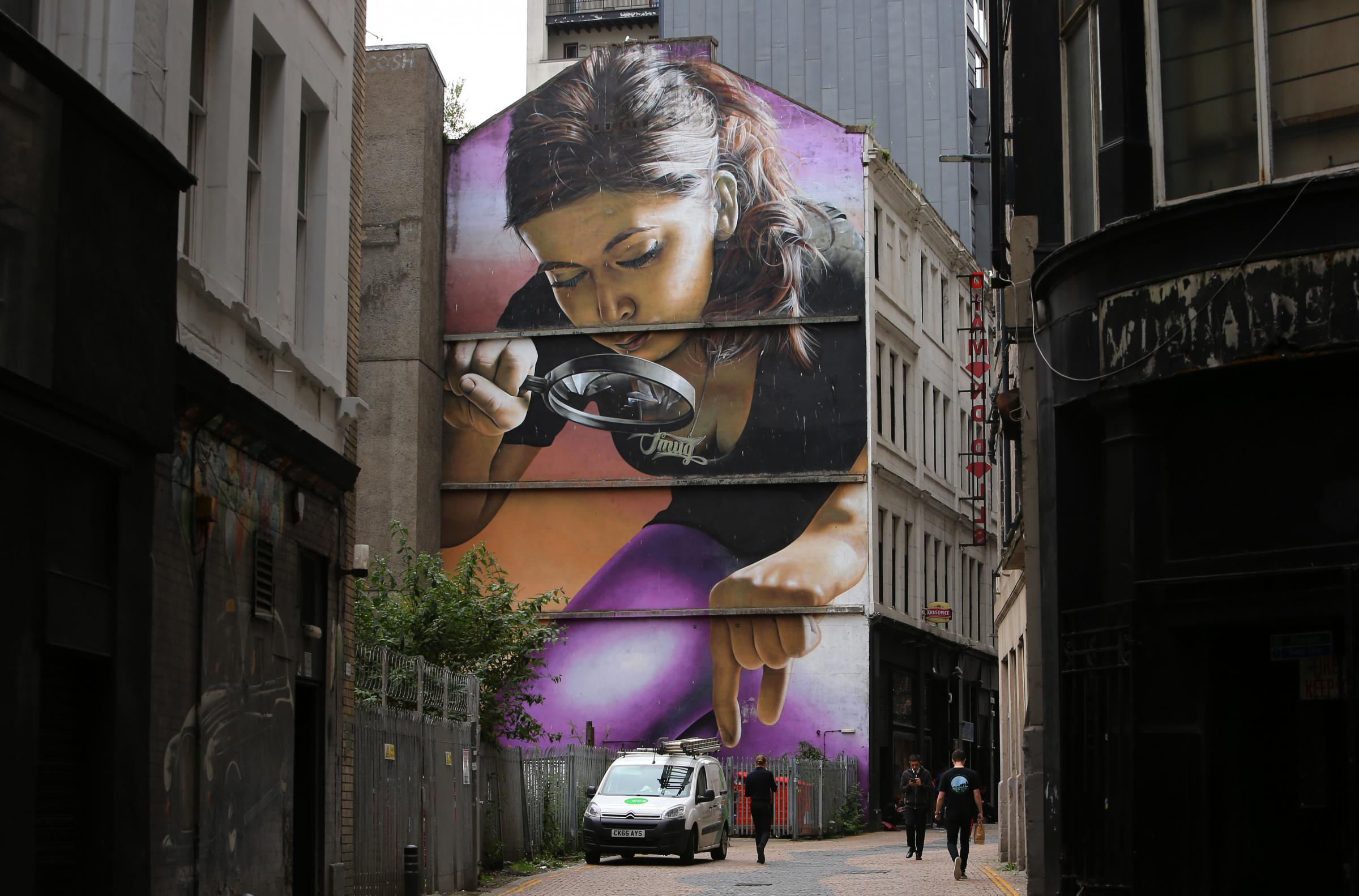 Murals: Smug, aka Sam Bates, on Glasgow's street art