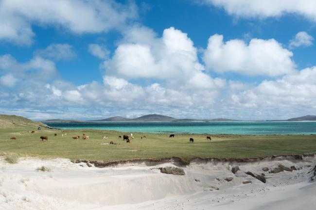 View to Berneray on North Uist is among many vistas on the wish-list of visiting Instagrammers.