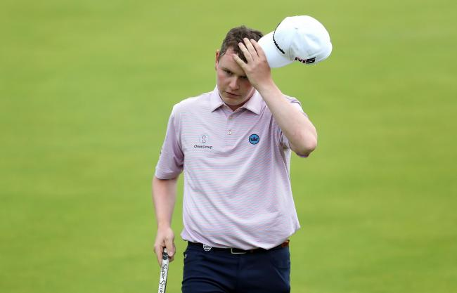 Scotland's Robert MacIntyre had a trying day at The Open