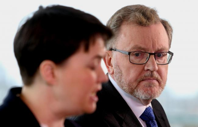Scottish Conservative leader Ruth Davidson and Scottish Secretary David Mundell at an Edinburgh press conference thursday..Pic Gordon Terris/The Herald.16/3/17.