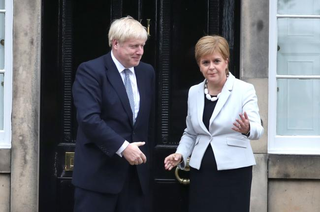 How does Nicola Sturgeon fare in comparison with Boris Johnson?