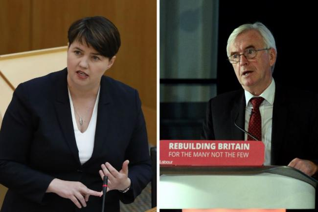 Scottish Conservative leader Ruth Davidson has accused the Labour leadership of