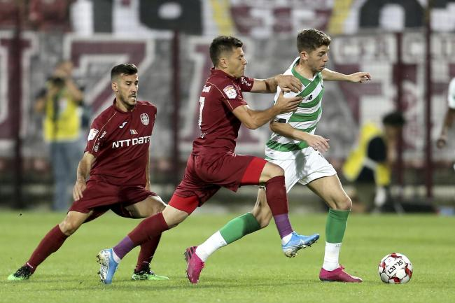 Celtic's Ryan Christie gave Cluj problems all night