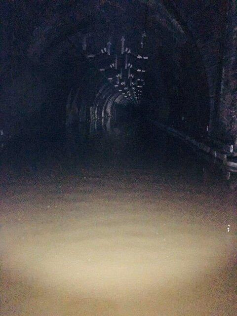 Inside Winchburgh Tunnel. Pic: Network Rail