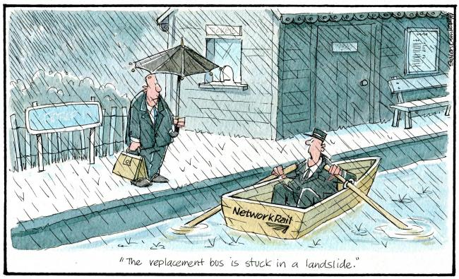 Saturday, August 10: Much of Scotland's transport system was sunk this week by heavy rain and flooding. (Steven Camley).