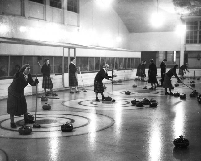 World Ladies' Curling Championship at Crossmyloof, 1958