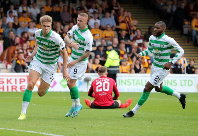 Kristoffer Ajer was a standout performer for Celtic in their win over Motherwell.