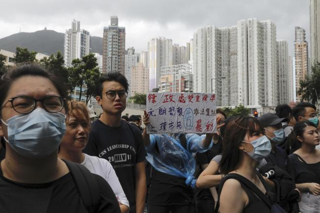 Some of the Hong Kong protesters