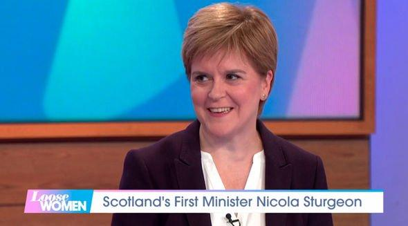 Nicola Sturgeon admits on Loose Women she would join all-women emergency Cabinet to block no-deal