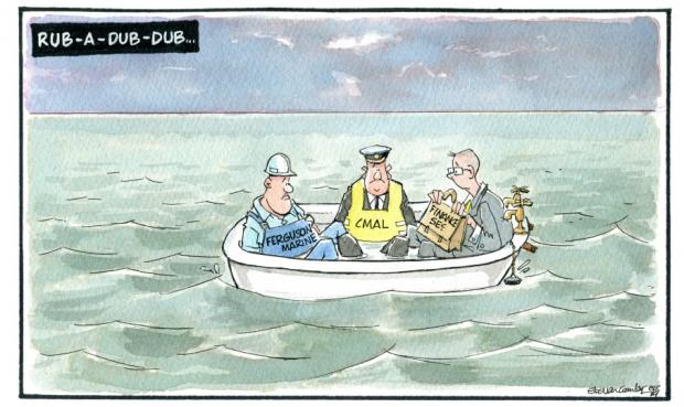 HeraldScotland: Camley's Cartoon: Ferry contract fiasco