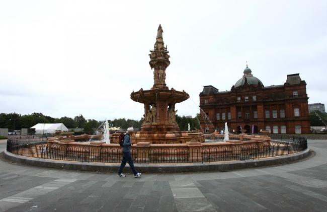 The Doulton fountain at the Peoples Palace, Glasgow Green. The terracotta fountain has been vandalised...  Photograph by Colin Mearns.5 July 2019..