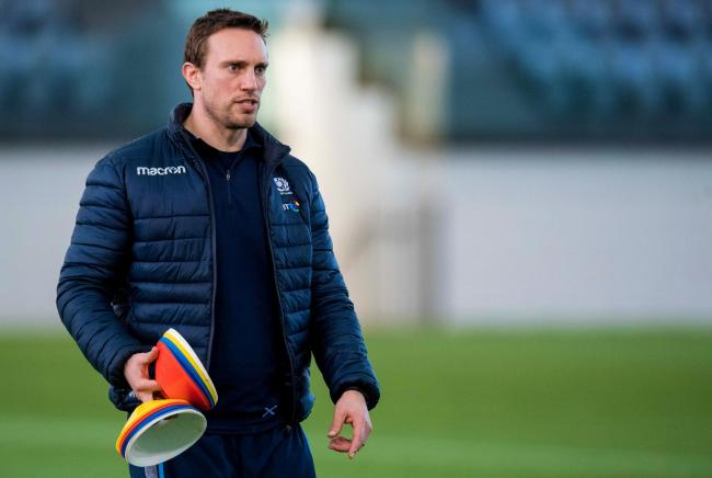 Scotland coach Mike Blair on the training field. Picture: SNS