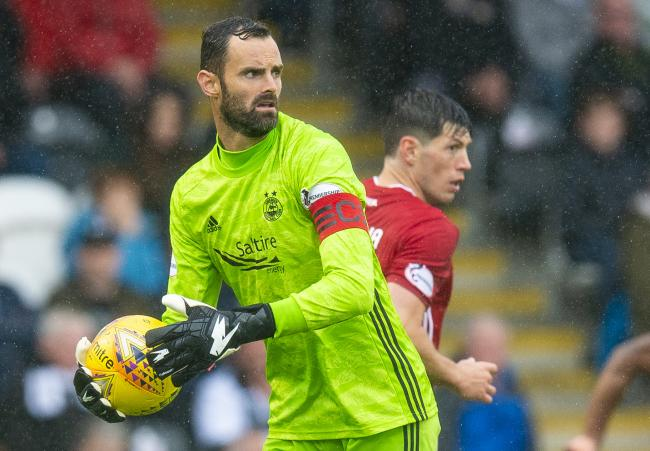 Goalkeeper Joe Lewis in action for Aberdeen
