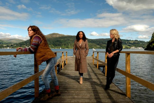 The women in Deep Water: Anna Friel, Rosalind Eleazar and Sinead Keenan