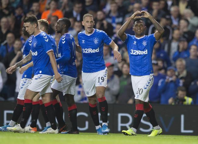 Alfredo Morelos scored twice as Rangers defeated Midtjylland 3-1 at Ibrox PHOTO: PA