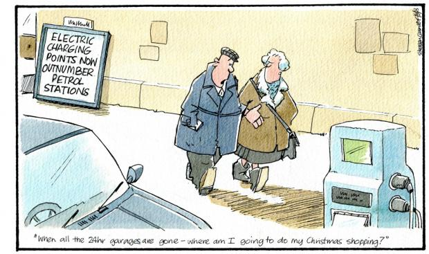 HeraldScotland: Camley's cartoon: The number of electric car charging points soars