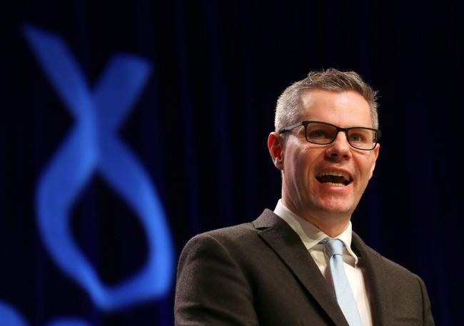 Finance Secretary Derek Mackay speaks during the SNP Spring Conference at the AECC, in Aberdeen. PRESS ASSOCIATION Photo. Picture date: Friday March 17, 2017. See PA story POLITICS SNP. Photo credit should read: Andrew Milligan/PA Wire.