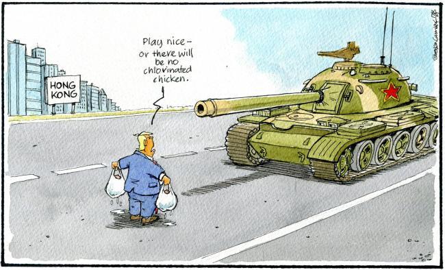 Risultati immagini per trump hong kong cartoons