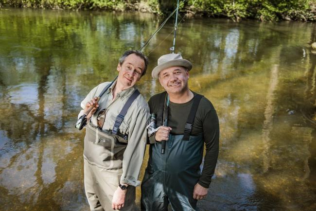 Messing about on the river: Paul Whitehouse and Bob Mortimer are going fishing
