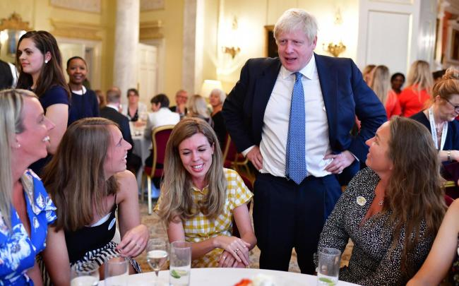 Prime Minister Boris Johnson hosting a reception at 10 Downing Street to thank hospice staff for their hard work, dedication and compassion.