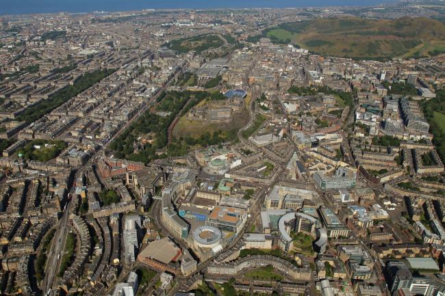 Edinburgh from above. Knight Frank.