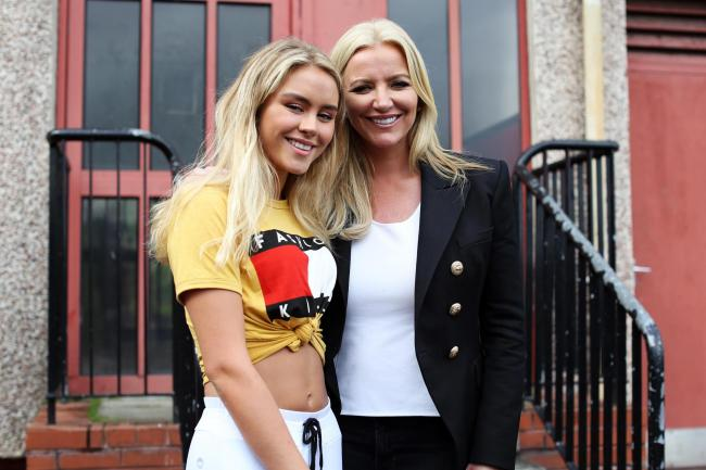 Michelle Mone and daughter Bethany in the Gallowgate
