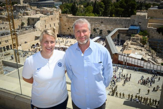 Emma Hayes (left) and Roman Abramovich