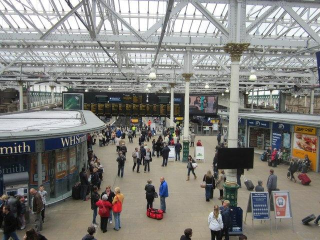 Trespassers on the line cause delays at Edinburgh Waverley