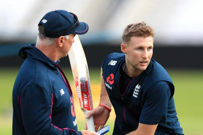 England captain Joe Root, right, is ready to face an Australia team missing Steve Smith