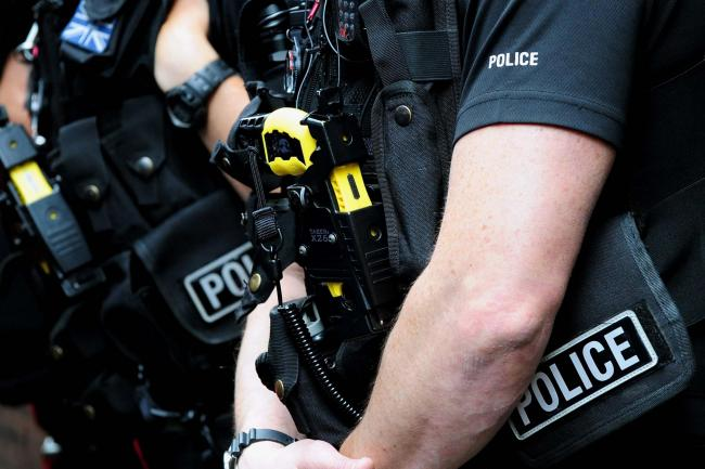 The man was arrested after police pointed a taser at him