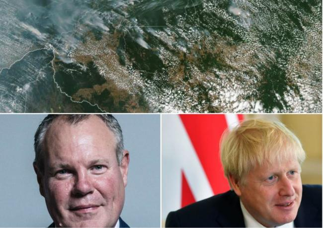 Ally to Boris Johnson accused of 'cosying up' to Brazil government as Amazon rainforest burns