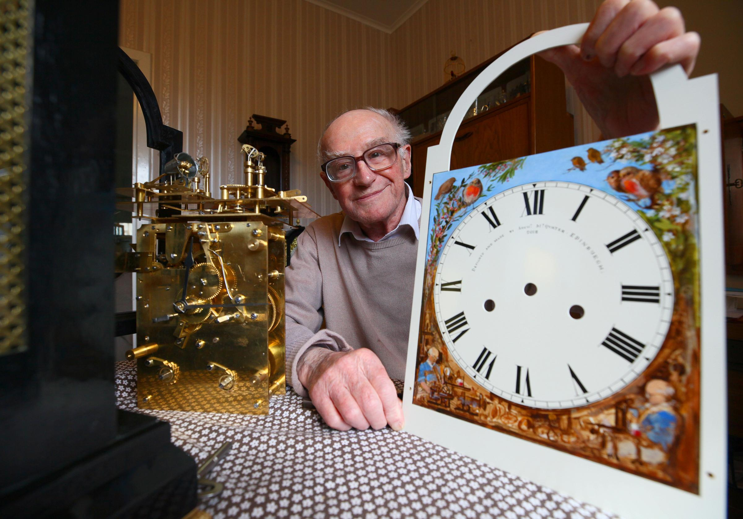 Scotland's old father time: Archie McQuater the clock maker still ticking along at 91